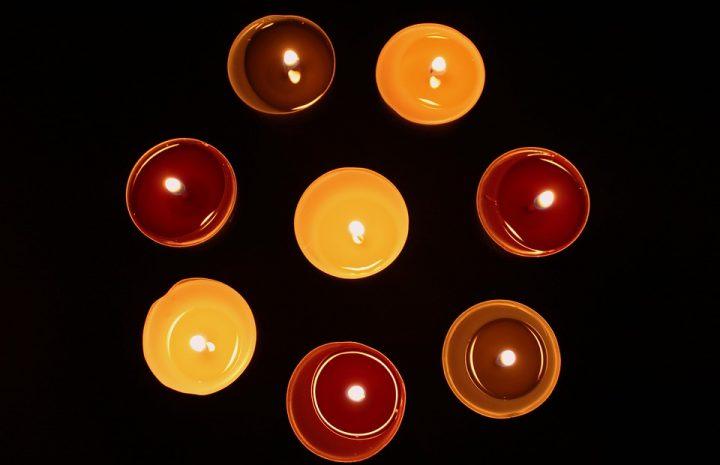 Decoración con velas aromáticas